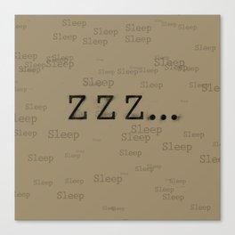 ZZZ... Sleep Canvas Print