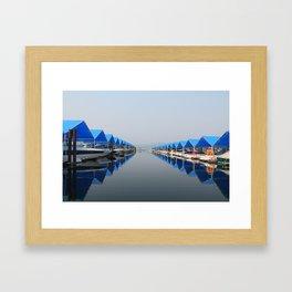Summertime Docks Framed Art Print