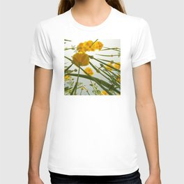 Looking Through Yellow Daisies to the Sky T-shirt