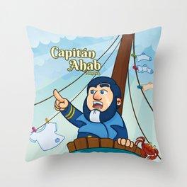 Capitán Ahab Throw Pillow