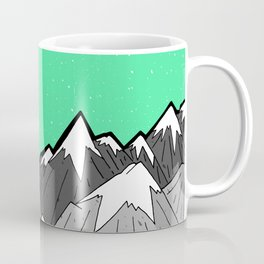 Green Sky Mounts Coffee Mug