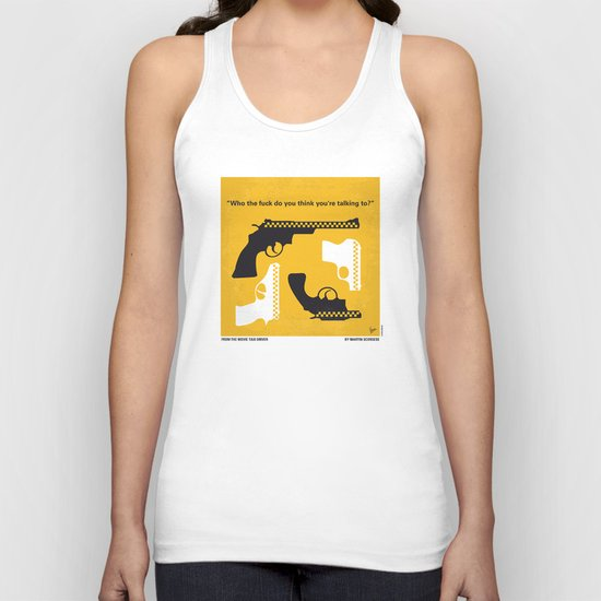 No087 My Taxi Driver minimal movie poster Unisex Tank Top