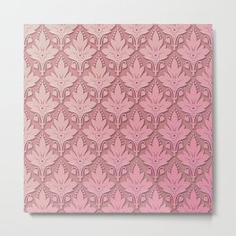 AMOROSO DAMASK - Beautiful Design - PINK PANACHE Metal Print