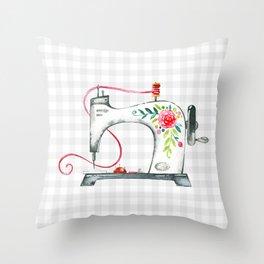 Floral Sew Throw Pillow