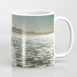 Surfing at  Sunset Coffee Mug