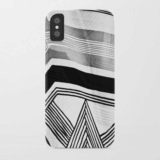Modern Zebra Abstract iPhone Case