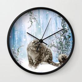 Wonderful snowleopard Wall Clock