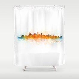 Vancouver Canada City Skyline Hq v03 Shower Curtain