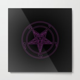 Das Siegel des Baphomet - The Sigil of Baphomet (purple reign) Metal Print