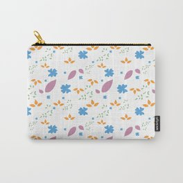 Vibrant Floral Pattern Carry-All Pouch