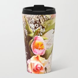Life is better with flowers Travel Mug