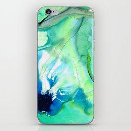 Soft Green Art - Gentle Guidance - Sharon Cummings iPhone Skin