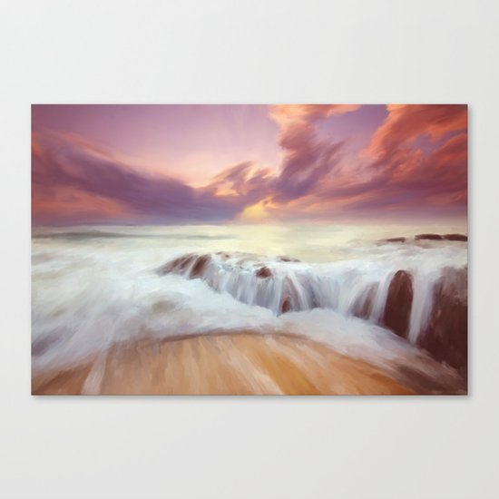 Sunset on the cliffs Canvas Print