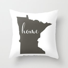 Minnesota is Home Throw Pillow