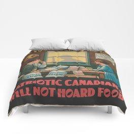 Vintage poster - Food Hoarding Comforters