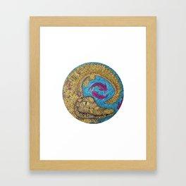 Golden Crocodile Framed Art Print