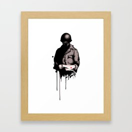 War Letter Framed Art Print