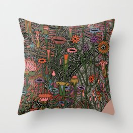 Silvers On Her Fingers   Throw Pillow