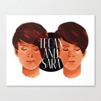 tegan and sara Canvas Prints featuring Tegan and Sara by Cas.
