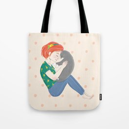 Loving Cat Mom Tote Bag