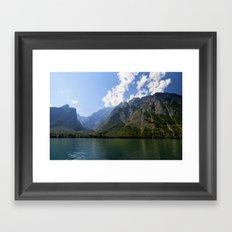 Bavaria - Alpes- Mountains Koenigssee Lake Framed Art Print