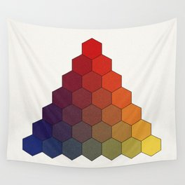 Lichtenberg-Mayer Colour Triangle (Tobiae Mayeri, Opera inedita - Vol. I, plate III), 1775, Remake Wall Tapestry