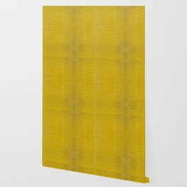 Yellow Alligator Leather Print Wallpaper