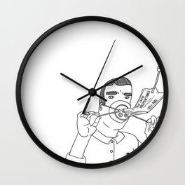 I Love True Crime - Masculine Version Wall Clock