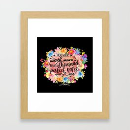 A Thousand Perfect Notes Quote Framed Art Print