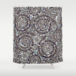 Year of the Snake mosaic Shower Curtain