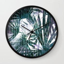 Fan Palms Theme Wall Clock