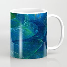Sea Glass 3D Flame Fractal Coffee Mug