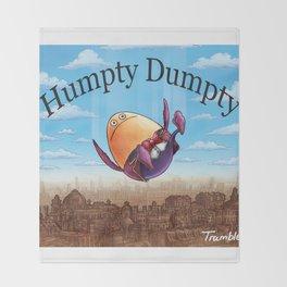 """Humpty Dumpty"" (Mother Goose Retold-Book Cover) Throw Blanket"