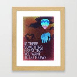 Elephants can fly. Framed Art Print