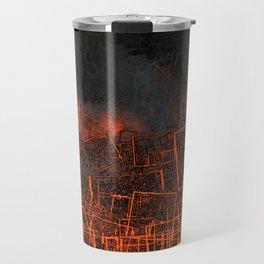 Urban landscape geometric structure rubble illustration Travel Mug