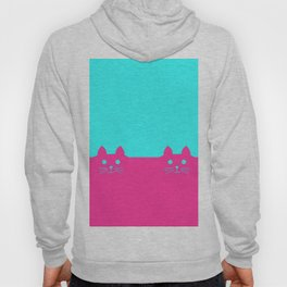 Meow Cat Pink Blue Hoody