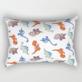 Dinosaurs drawing background Rectangular Pillow