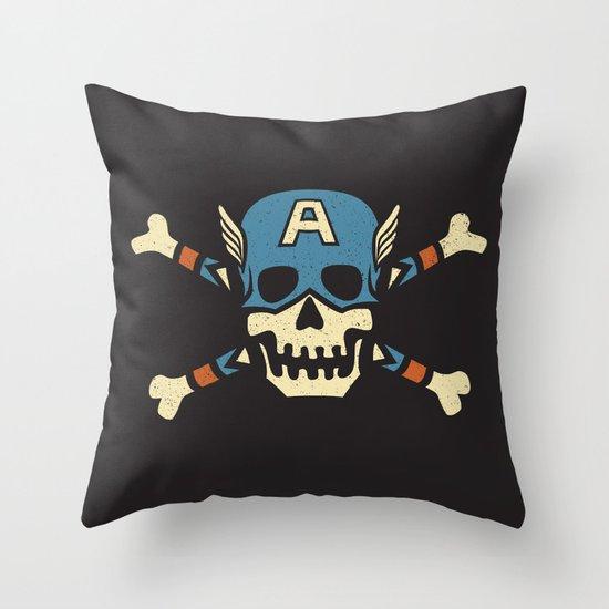 Captain 'Jolly' Rogers  Throw Pillow