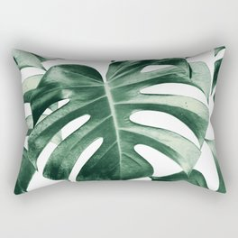Tropical Monstera Leaves Dream #2 #tropical #decor #art #society6 Rectangular Pillow