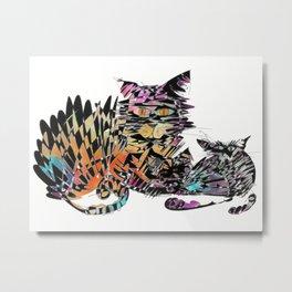 Three colored cats Metal Print
