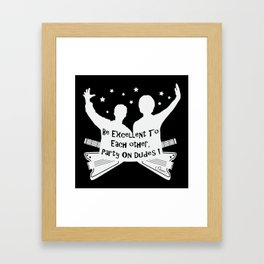 BILL AND TED'S EXCELLENT ADVENTURE Collectible Beth Bacon Design no.4 Framed Art Print
