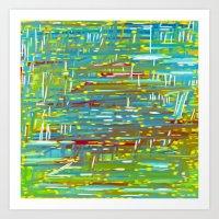 Reedy Pond Art Print