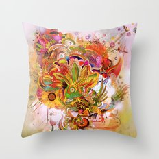 Botanical Dimensions Throw Pillow