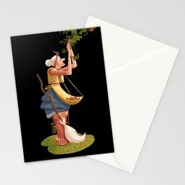 Witch (black background) Stationery Cards