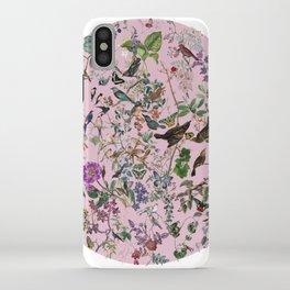 Bird menagerie mauve iPhone Case