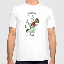 Ice Bear likes pancakes T-shirt