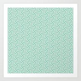 Celtic Knot Pattern in Green Art Print