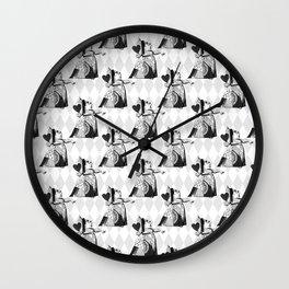 Queen of Hearts Wonderland Pattern C15 Alice in Illustration Wall Clock