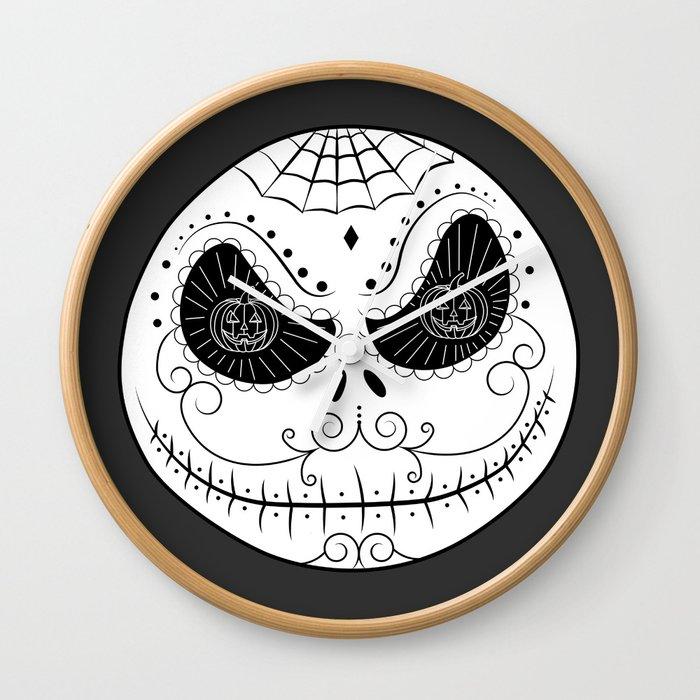 Jack\'s Skull Sugar (Vector Mexican Skull) Wall Clock by beatrizxe ...