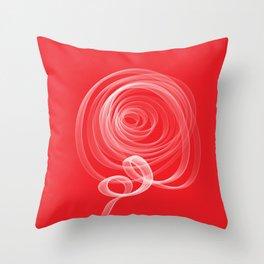 Single White Rose Throw Pillow